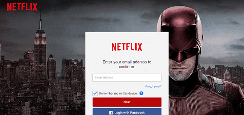 Official Netflix Login Landing Page