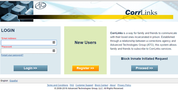 Official CorrLinks Email Login Landing Page