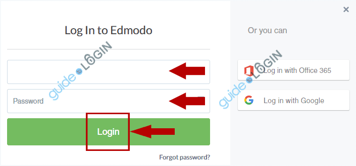Edmodo Login Step 2