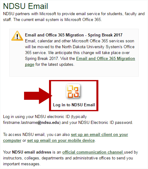 NDSU Webmail Login Step 1