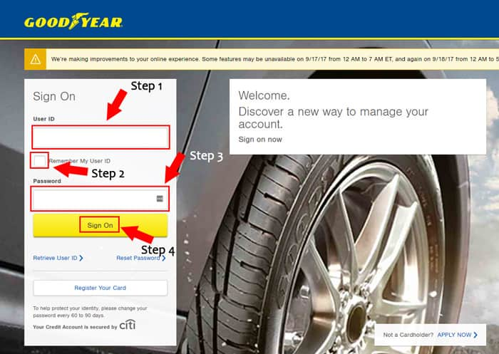 goodyear account login