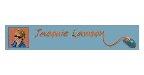 logo of jacquie lawson