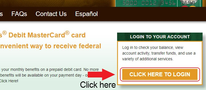 direct express homepage login