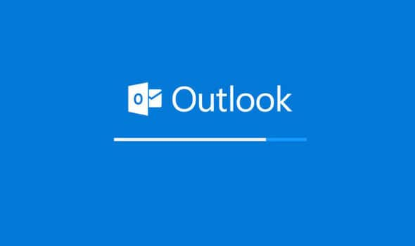 Outlook express loading screen