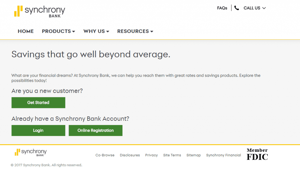 Synchrony online account